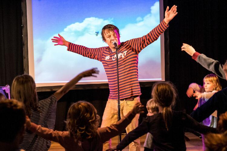 Kid Carpet's Super Mega Rockin' Rock Show. Photo by Jerome Whittingham.